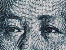 Mao Zedong-ogen op de Chinese macro van het 10 yuansbankbiljet, het geld c van China Royalty-vrije Stock Foto