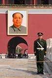 Mao Zedong - plac tiananmen Pekin Chiny Zdjęcie Royalty Free