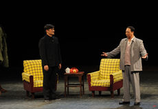 Mao Zedong and Secretary Tian Jiaying-Sketch of anti-corruption-People in the big stage Stock Photo