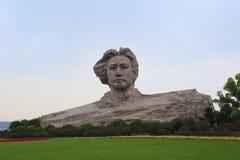 Mao Zedong skulptur Arkivfoton