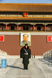 Mao Zedong and solider Royalty Free Stock Photography