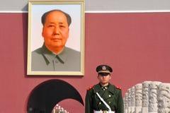 Mao Zedong - Tiananmen kvadrerar Beijing Kina Fotografering för Bildbyråer