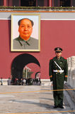 Mao Zedong - Tiananmen vierkant Peking China Royalty-vrije Stock Foto