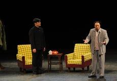 Mao Zedong y secretaria Tian Jiaying-Sketch de la anti-corrupción-gente en la etapa grande Imagenes de archivo