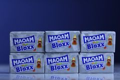 Maoam Bloxx packs, Coke Cola flavours stock images