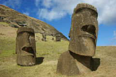 Maoi at easter island Stock Photography