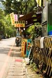 Maokong村庄在台北,台湾 免版税库存照片