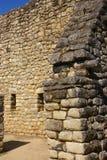 Maçonnerie fine dans des maisons d'Inca Photos libres de droits
