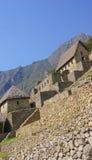 Maçonnerie fine dans des maisons d'Inca Images stock
