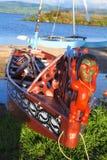 Maori βάρκες Στοκ φωτογραφία με δικαίωμα ελεύθερης χρήσης