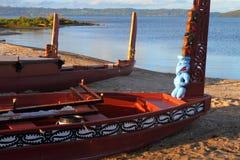 Maori βάρκες Στοκ Φωτογραφίες