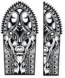 Maori διακοσμήσεις ύφους ελέγξτε την εικόνα σχεδίου η παρόμοια δερματοστιξία χαρτοφυλακίων μου ελεύθερη απεικόνιση δικαιώματος