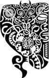 maori δερματοστιξία σχεδίου Στοκ εικόνα με δικαίωμα ελεύθερης χρήσης