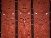 Maori ξύλινες γλυπτικές Στοκ Φωτογραφία