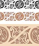 Maori- angeredetes nahtloses Muster Stockfoto
