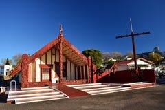 Maori- Architektur in Rotorua, Neuseeland lizenzfreies stockbild
