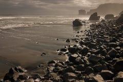 Maori Bay au crépuscule Photo libre de droits