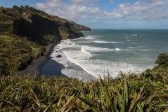 Maori Bay near Muriwai Stock Image