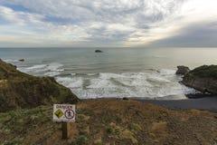 Maori bay overview Stock Photo
