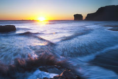 Maori Bay sunset  Royalty Free Stock Photos