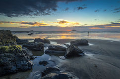 Maori Bay. After the sunset at Maori Bay, Auckland < New Zealand royalty free stock photos
