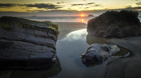 Maori Bay Sunset Stock Photos
