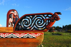 Maori boat fragment Stock Photos