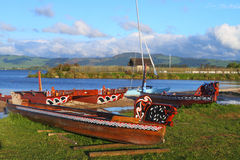 Maori boats Stock Photography