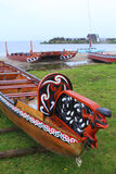 Maori boats Stock Photos