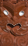Maori Carving. Of a warrior face Stock Image