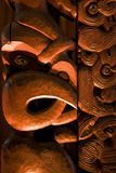 Maori carving. A dramatically lit Maori carving from New Zealand Stock Photos