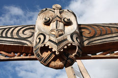 Maori carving Stock Photo