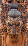 Maori carving. At Rotorua, New Zealand stock photos