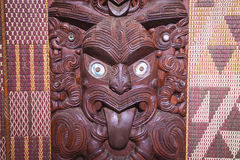 Maori carving. From New Zealand stock photos