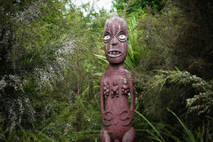 Maori carving from New Zealand Stock Photos