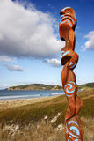 Maori carving Omaha Stock Photo
