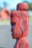 Maori carving - Rotorua, New Zealand Stock Photo