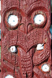 Maori carving - Rotorua, New Zealand Royalty Free Stock Photography