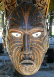 Maori carving at Rotorua, New Zealand stock photos