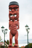 Maori carving sculpture in Rotorua, New Zealand Royalty Free Stock Photography