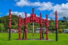 Maori- Carvings Lizenzfreie Stockfotos
