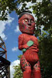 Maori Carvings. North Island, New Zealand stock photo