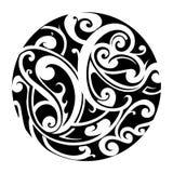 Maori circle tattoo Royalty Free Stock Images