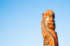 Maori cultural carved pole. Stock Image