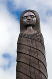 Maori Culture - cinzeladura de madeira Fotos de Stock Royalty Free