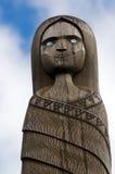 Maori Culture - hölzernes Schnitzen Stockfoto