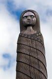 Maori Culture - hölzernes Schnitzen Lizenzfreie Stockfotos