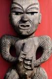 Maori Culture - talla de madera Imagenes de archivo