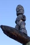 Maori Culture - talla de madera Imagen de archivo libre de regalías