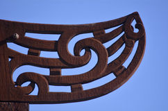 Maori  culture - wood curving Stock Photography